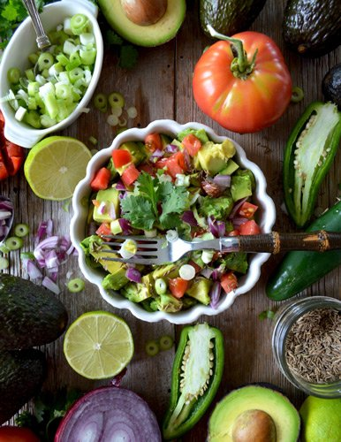 avocado salad healthy prenatal diet