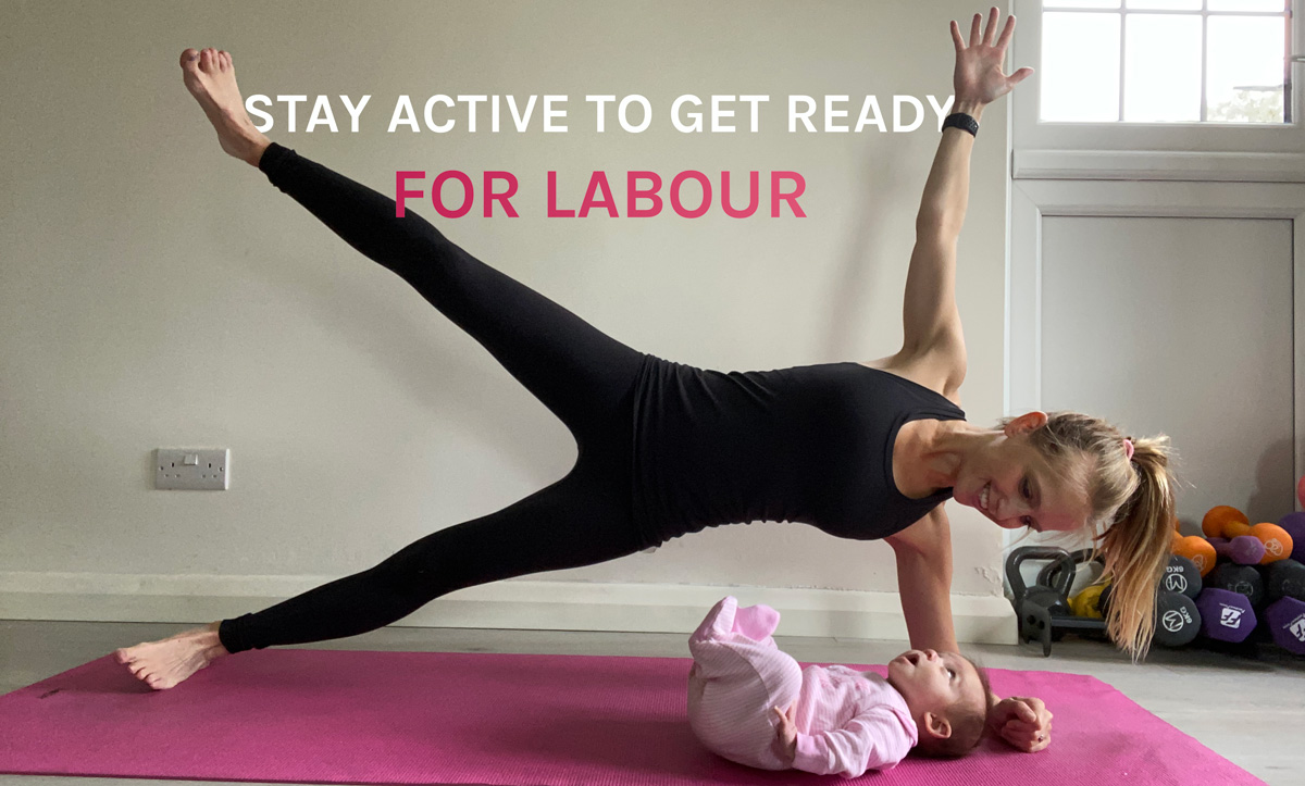 Emma Bord stay active to prepare for labour